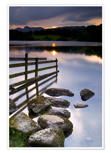 Premium poster Loughrigg Tarn in England