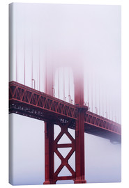 Canvas  Golden Gate Bridge in the fog - Jean Brooks