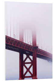 Foam board print  Golden Gate Bridge in the fog - Jean Brooks
