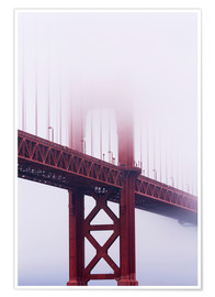 Poster  Golden Gate Bridge in fog, San Francisco - Jean Brooks