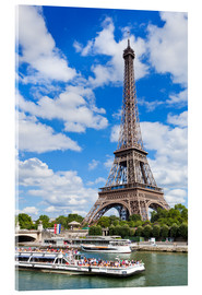 Acrylic print  Tour boat on the Seine with Eiffel Tower - Neale Clarke