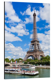 Aluminium print  Tour boat on the Seine with Eiffel Tower - Neale Clarke