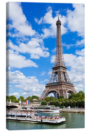 Canvas print  Tour boat on the Seine with Eiffel Tower - Neale Clarke