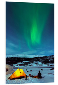 Foam board print  Northern lights and camp - Christian Kober