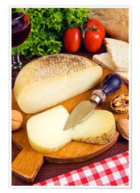 Premium poster Pecorino cheese