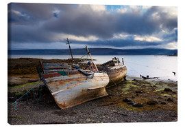 Canvas print  Old fishing boats in Salen, Isle of Mull - Patrick Dieudonne