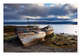 Premium poster Old fishing boats in Salen, Isle of Mull