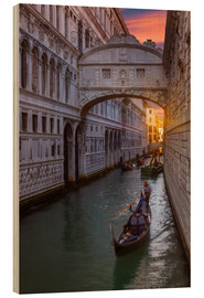 Wood print  Bridge of Sighs in Venice - Angelo Cavalli