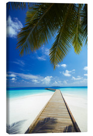 Canvas print  Jetty, Maldives - Sakis Papadopoulos