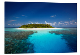 Acrylic glass  Tropical island, Maldives - Sakis Papadopoulos
