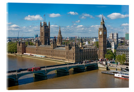 Acrylic print  Westminster Bridge with Houses of Parliament - Walter Rawlings