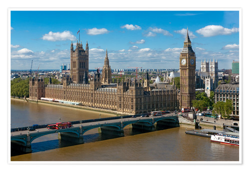 Premium poster Westminster Bridge with Houses of Parliament