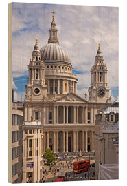 Wood print  St. Paul's Cathedral, London - Walter Rawlings