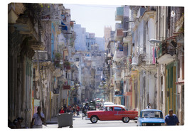 Canvas  In the streets of Havana - Lee Frost
