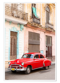 Poster  Restored American car, Havana - Lee Frost