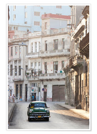 Poster  Taxi driving in Havana - Lee Frost