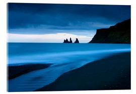 Acrylic print  Twilight view towards rock stacks at Reynisdrangar off the coast at Vik, South Iceland, Iceland, Pol - Lee Frost