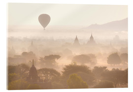 Acrylic glass  Balloon above the Bagan temples - Lee Frost