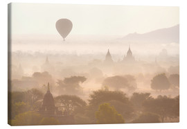 Canvas print  Balloon above the Bagan temples - Lee Frost