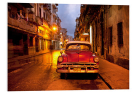 Forex  Red vintage American car in Havana - Lee Frost