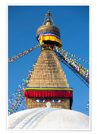Premium poster  Bodhnath Stupa (Boudhanth) (Boudha), one of the holiest Buddhist sites in Kathmandu, UNESCO World He - Lee Frost