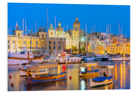 Foam board print  Grand Harbour Marina, Vittoriosa (Birgu), The Three Cities, Malta, Mediterranean, Europe - Christian Kober