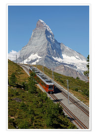Premium poster Excursion to the Matterhorn