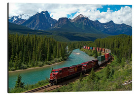 Alu-Dibond  Morants bend with railroad and Bow River - Hans-Peter Merten