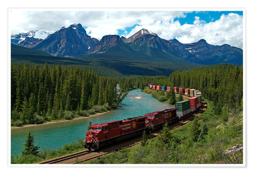 Premium poster Morants bend with railroad and Bow River