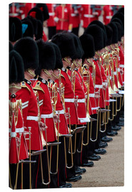 Canvas print  Soldiers at Trooping the Colour 2012, The Queen's Birthday Parade, Horse Guards, Whitehall, London,  - Hans-Peter Merten