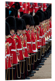Foam board print  Soldiers at Trooping the Colour 2012, The Queen's Birthday Parade, Horse Guards, Whitehall, London,  - Hans-Peter Merten