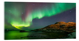 Acrylic glass  Northern Lights near Tromso, Norway - Louise Murray