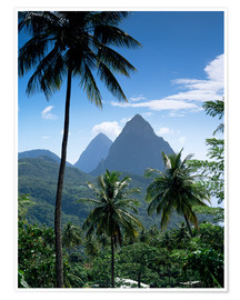 Premium poster  The Pitons, St Lucia - John Miller