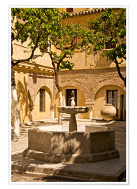Poster  Terrace with fountain in Seville - Guy Thouvenin
