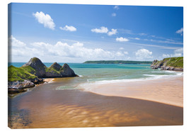 Canvas print  Three Cliffs Bay, Wales - Billy Stock