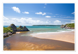 Premium poster  Three Cliffs Bay, Wales - Billy Stock