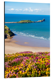 Aluminium print  Rhossili Bay, Gower Peninsula - Billy Stock