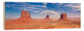 Wood print  Monument Valley Navajo - Neale Clarke