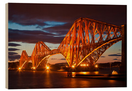 Wood print  Forth Rail Bridge, South Queensferry - Neale Clarke