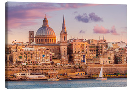 Canvas print  Valletta at sunset - Neale Clarke