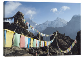Canvas print  Prayer flags, view from Gokyo Ri - Christian Kober