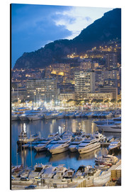 Aluminium print  Harbour in the Port of Monaco, Principality of Monaco, Cote d'Azur, Mediterranean, Europe - Christian Kober