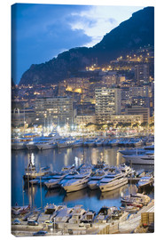 Canvas print  Harbour in the Port of Monaco, Principality of Monaco, Cote d'Azur, Mediterranean, Europe - Christian Kober