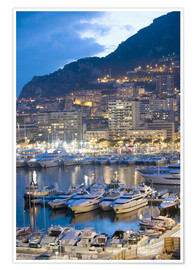 Premium poster  Harbour in the Port of Monaco, Principality of Monaco, Cote d'Azur, Mediterranean, Europe - Christian Kober