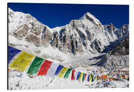 Aluminium print  Prayer flags at the case camp of Mount Everest - Christian Kober