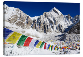 Canvas  Prayer flags at Everest Base Camp - Christian Kober