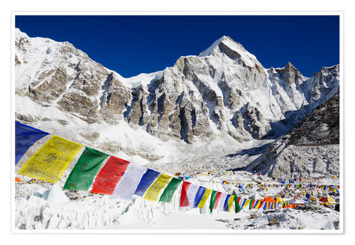 Premium poster Prayer flags at Everest Base Camp
