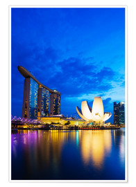 Poster  Marina Bay Sands Hotel and Arts Science Museum, Singapore, Southeast Asia, Asia - Christian Kober