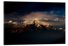 Acrylic print  Machapuchare (Machhapuchhre) (Fish Tail) mountain, in the Annapurna Himal of north central Nepal, Ne - Mark Chivers