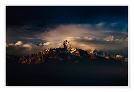 Premium poster Machapuchare (Machhapuchhre) (Fish Tail) mountain, in the Annapurna Himal of north central Nepal, Ne